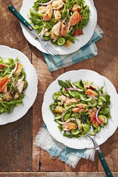 quick easy dinner recipes salmon panzanella