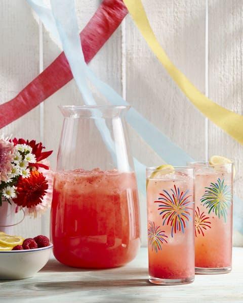 raspberry and lemon rosé sparkler