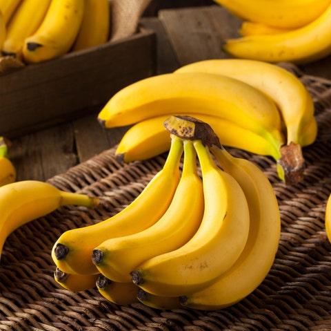 Raw Organic Bunch of Bananas