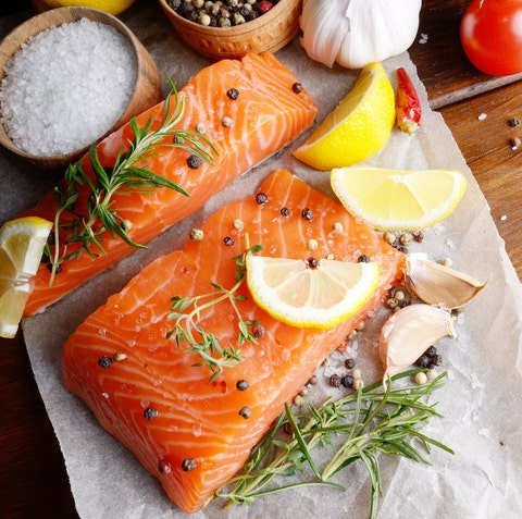 best food for hair growth - salmon fatty fish