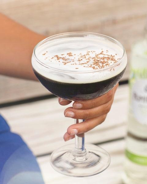 Irish cream, Drink, Irish coffee, Liqueur, Distilled beverage, Food, Champagne stemware, Alexander, Milkshake, Frappé coffee,