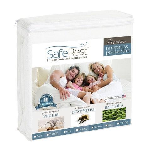 SafeRest Hypoallergenic Waterproof Mattress Protector (Twin Size)