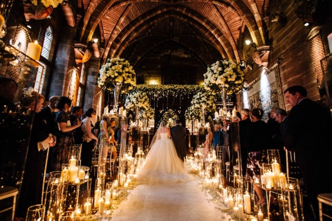 Lighting, Ceremony, Tradition, Function hall, Light fixture, Aisle, Flower Arranging, Marriage, Wedding dress, Arch,