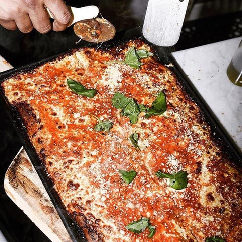 Dish, Food, Cuisine, Ingredient, Comfort food, Italian food, Recipe, Pizza cheese, Pizza, Produce,