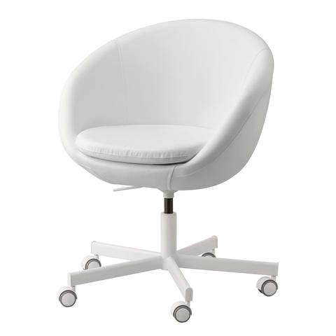 white ikea swivel chair