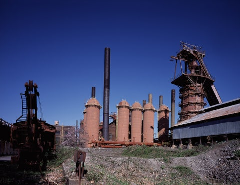 Industry, Sky, Urban area, Architecture, Factory, Ruins, Atmosphere, Iron, Building, Rural area,