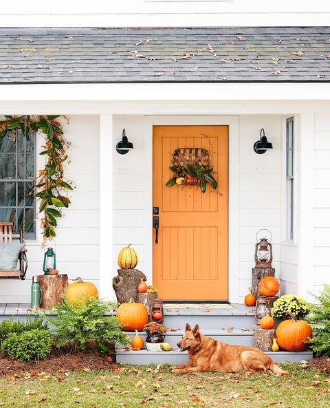 color fall doorway