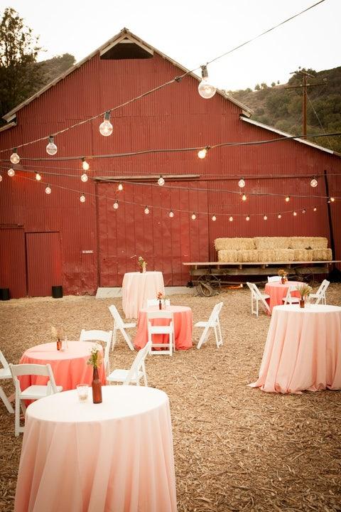 string lights outdoor wedding idea