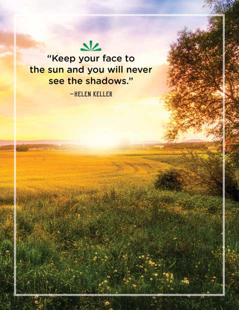 helen keller quote about sunshine