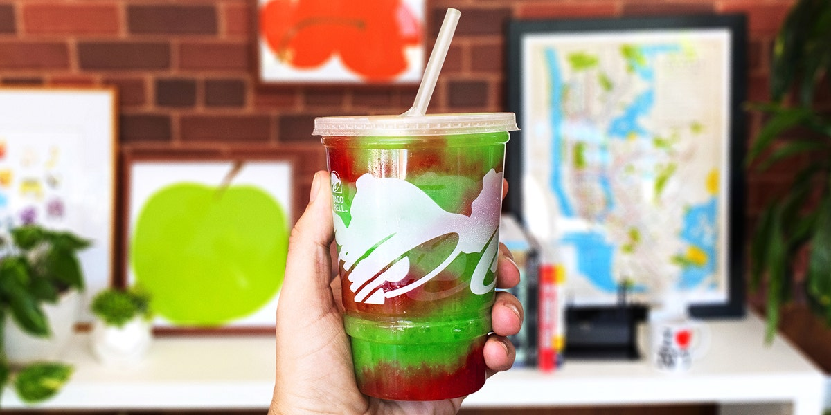 Taco Bell's New NYC Cantina is Selling an Exclusive Bell Apple Freeze
