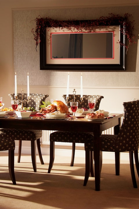 taper candles holiday tablescape