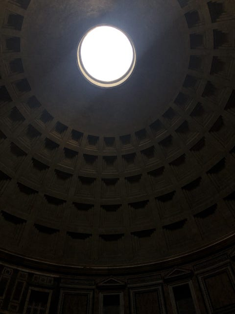 Dome, Ceiling, Light, Architecture, Building, Sky, Circle, Daylighting, Symmetry,