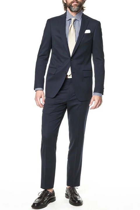 Suit, Clothing, Formal wear, Blazer, Tuxedo, Outerwear, Standing, Jacket, Suit trousers, White-collar worker,