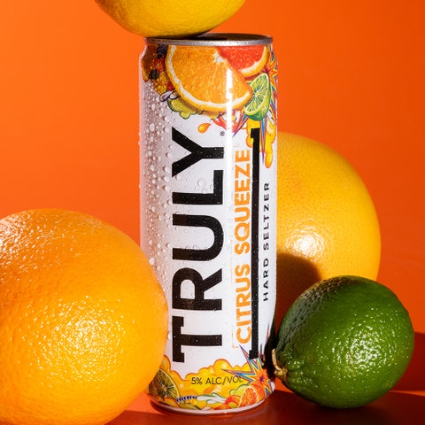 truly hard seltzer citrus squeeze