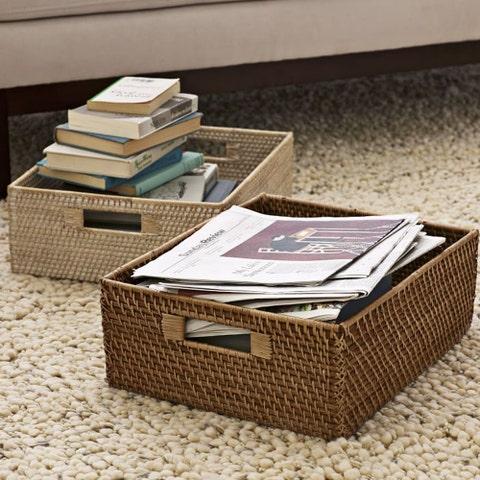 West Elm Modern Weave Underbed Storage