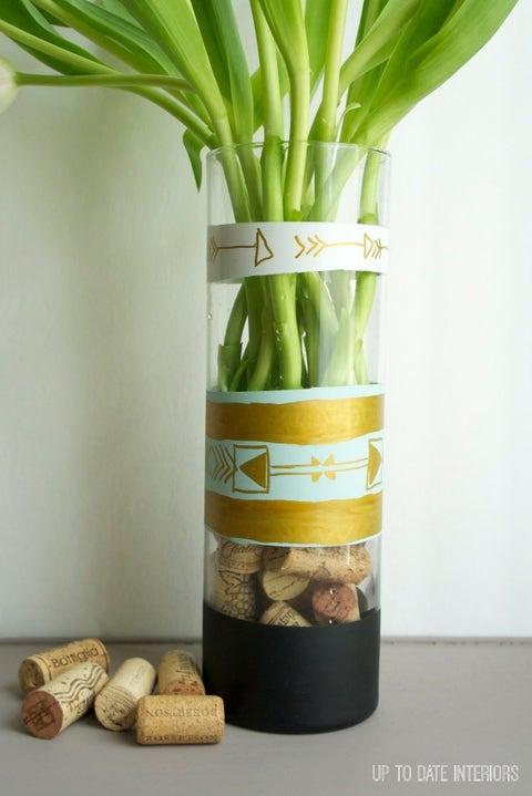 wine cork crafts vase