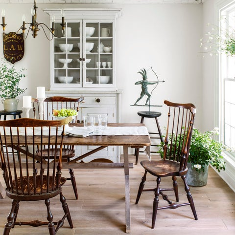 home of nancy fishelson in orchard park, new york  white decor  kitchen table