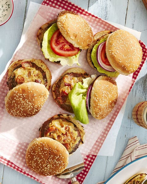 worcestershire glazed grilled burgers