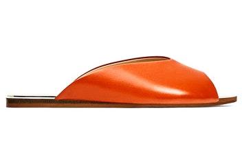 Orange, Footwear, Vehicle,