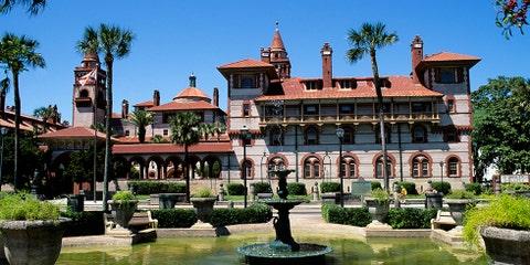 Building, Mansion, Property, Estate, Architecture, Tree, Palm tree, Hacienda, House, Home,