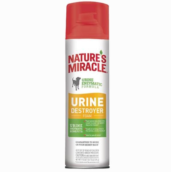 Nature's Miracle Dog Enzymatic Stain Urine Destroyer Foam Aerosol Spray