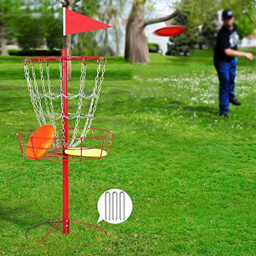 YAHEETECH 12 Chain Portable Disc Golf Basket