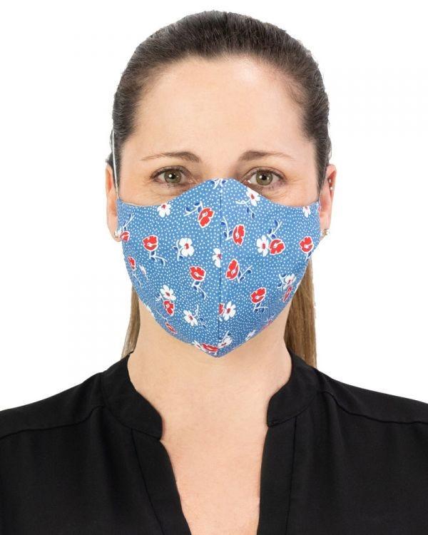Masker-AID: 100% Cotton 3 Layer Reusable, Reversible, Breathable Face Mask