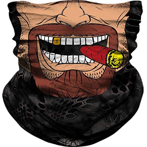 3D Neck Gaiter Shield Scarf Bandana Face Mask Seamless UV Protection for Motorcycle Cycling Riding Running Fishing Hiking Camping Kayaking