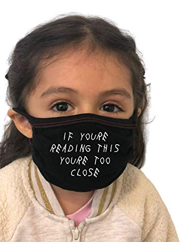 Made in USA Washable Reusable Kid Dust Cover Scarf Bandana with Filter Pocket (Funny Quote)