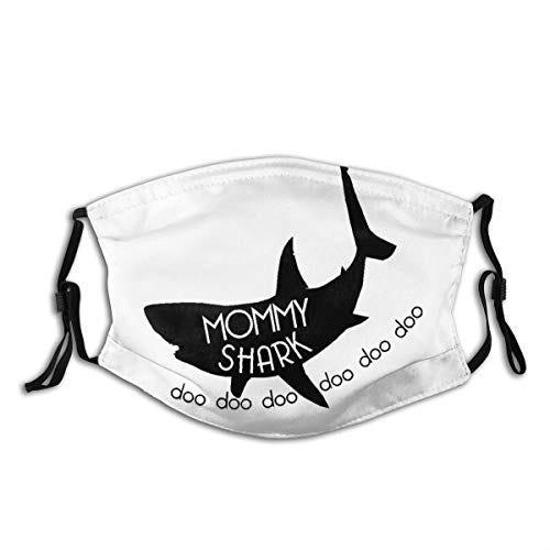 Wonderbce Adult Dust Mask Mommy Shark Doo Portable Mask,Face Mask, Unisex,Bandana,Dust Scarf,Balaclava, Filters The Air