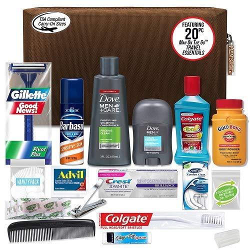 Convenience Kits Men's Premium 20 Count Necessities Travel Kit