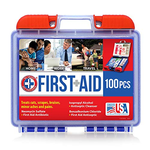 Be Smart Get Prepared 100Piece First Aid Kit, Clean