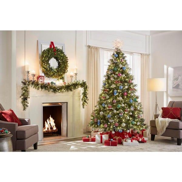 7.5 ft Sparkling Amelia Pine LED Pre-Lit Artificial Christmas Tree