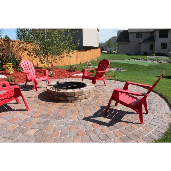 Necessories 48 in. Grand Concrete Fire Pit in Desert with Cooking Grate