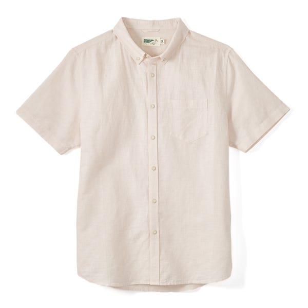 Cotton-Linen Short Sleeve Shirt