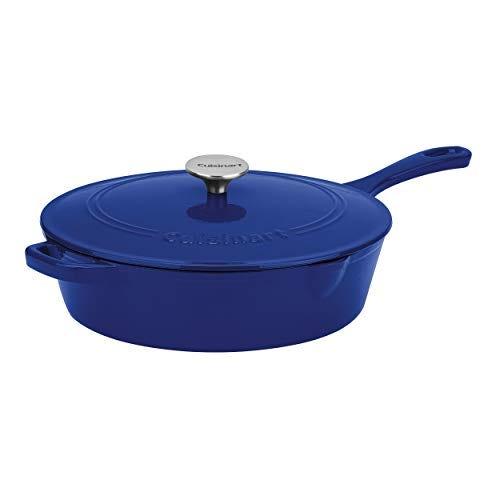 """Cuisinart Cast Iron, Cobalt, 12"""", Chicken Fryer"""