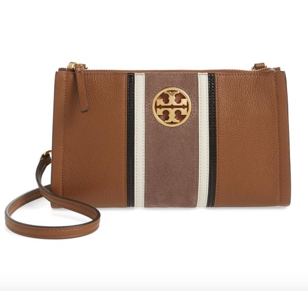 Carson Stripe Leather Crossbody Bag