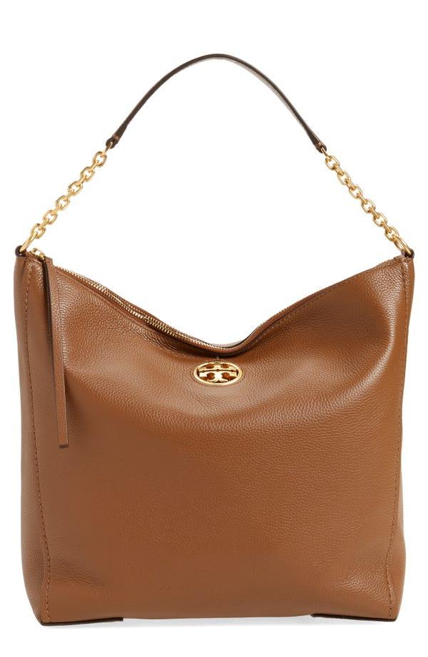 Carson Top Handle Leather Hobo Bag