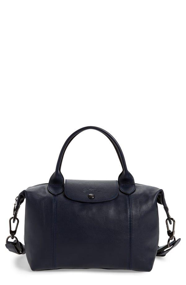 Le Pliage Cuir Leather Shoulder Bag