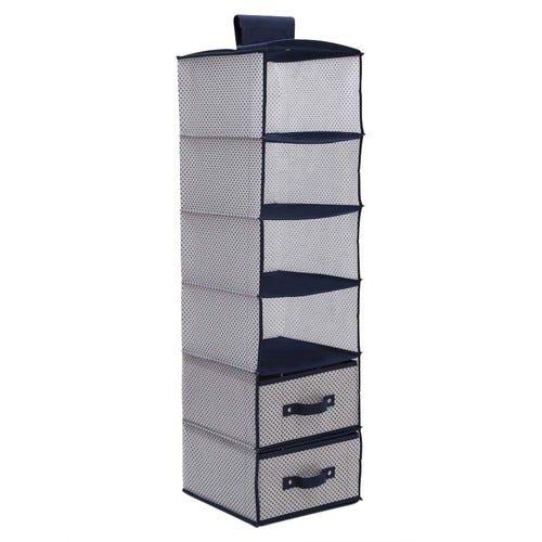 Delta Children 6 Shelf Storage with 2 Drawers