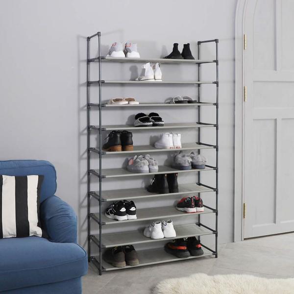 10 Tiers 50 Pair Stackable Shoe Rack Storage Shelves