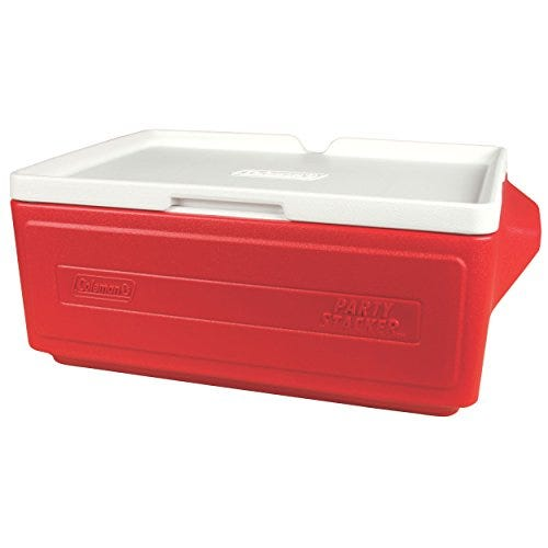 Coleman 24 Can Party Stacker Cooler, Red