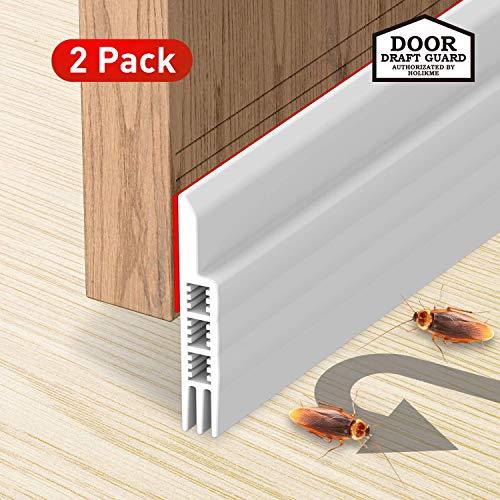 Holikme 2 Pack Door Draft Stopper Under Door Draft Blocker Insulator Door Sweep