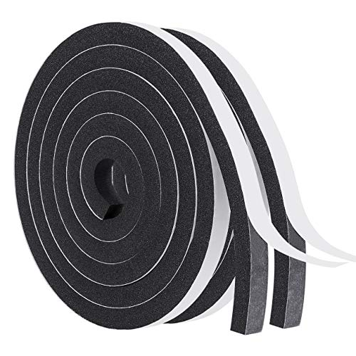 Windows Sealing Tape-2 Rolls, 1/2 Inch Wide X 1/2 Inch Thick Weather Stripping for Windows and Doors