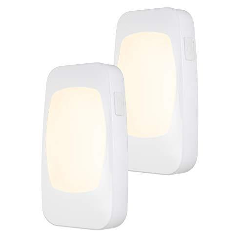 Energizer 4-in-1 LED Power Failure Night Light 2 Pack, Dusk-to-Dawn Sensor, Foldable Plug, Emergency Flashlight, Tabletop, Snow, Hurricane, Storm, Blackout, White, 46473, 2-Pack, 2