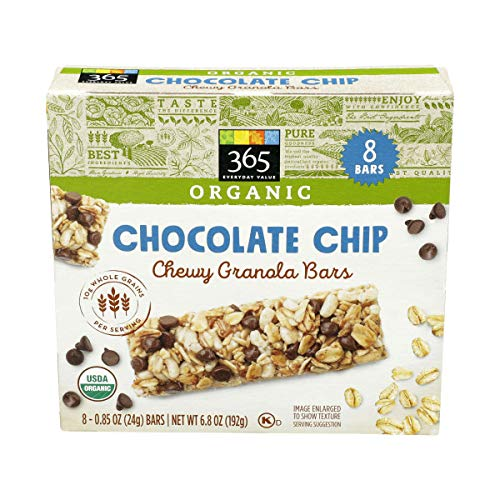 365 Everyday Value, Organic Chewy Granola Bar, Chocolate Chip, 8 ct