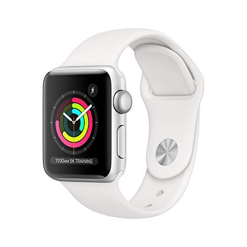 Apple Watch Series 3 (GPS, 38mm) - Silver Aluminum Case with White Sport Band