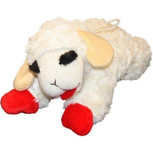 Multipet Lamb Chop Squeaky Plush Dog Toy