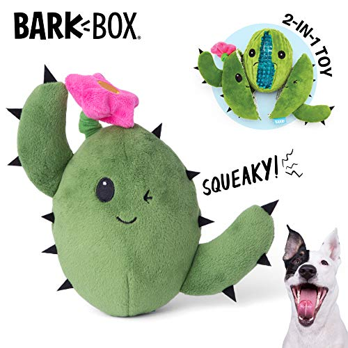Barkbox Interactive 2-in-1 Stuffed Plush Squeaky Dog Toy