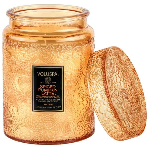Spiced Pumpkin Latte Glass Candle